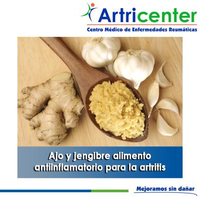 Ajo y jengibre alimento antiinflamatorio para la artritis-artricenter