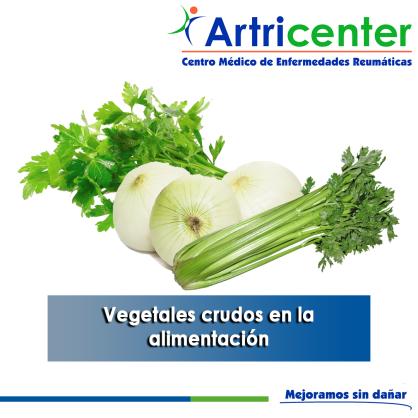Vegetales crudos en la alimentación-artricenter