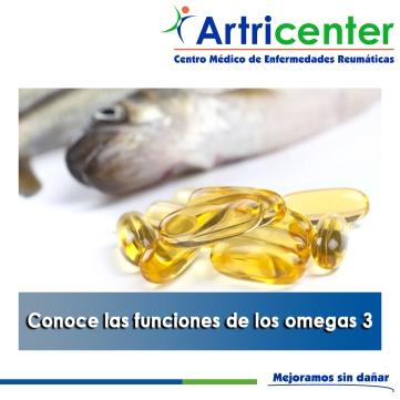 Conoce las funciones de los omegas 3-artricenter