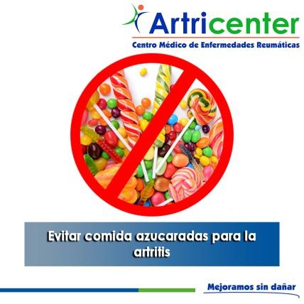 Evitar comida azucaradas para la artritis-artricenter