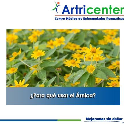 Para qué usar el Árnica artricenter