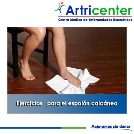 Ejercicios para el espolón calcáneo-artricenter